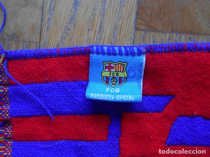 Coleccionismo deportivo: BUFANDA OFICIAL FUTBOL CLUB BARCELONA - Foto 3 - 84957360