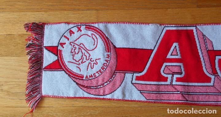 Coleccionismo deportivo: BUFANDA SCARF AJAX Vintage - Foto 5 - 85621396