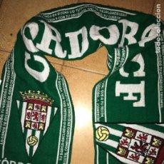 Coleccionismo deportivo: BUFANDA EQUIPO FÚTBOL CÓRDOBA CF. Lote 85941526