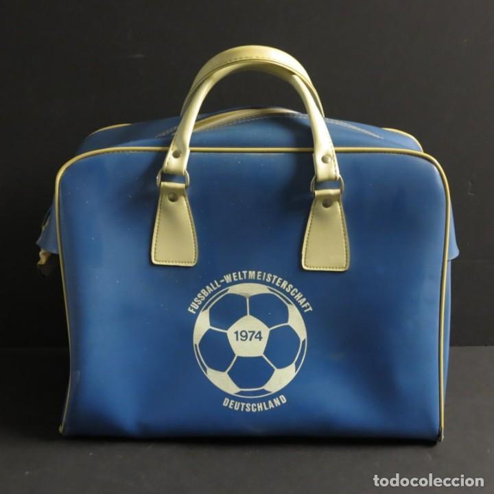 ORIGINAL. BOLSO VINTAGE DE LA COPA MUNDIAL DE FUTBOL. ALEMANIA 1974 (Coleccionismo Deportivo - Merchandising y Mascotas - Futbol)
