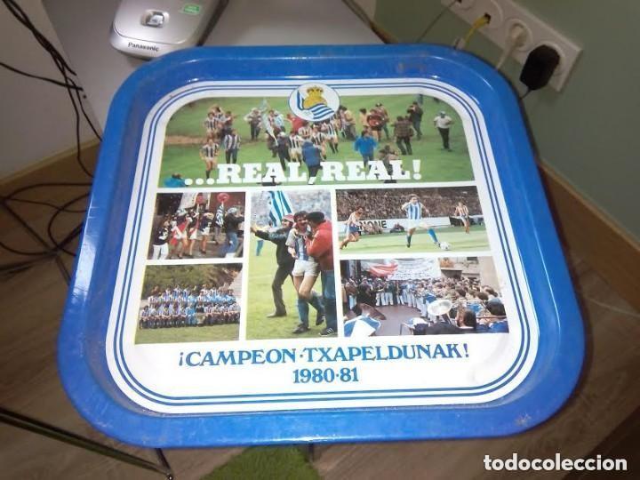 REAL REAL CAMPEON TXAPELDUNAK 1980-81 BANDEJA FUTBOL SAN SEBASTIAN (Coleccionismo Deportivo - Merchandising y Mascotas - Futbol)