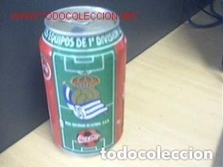 BOTE COCA COLA / EQUIPOS DE FUTBOL / REAL SOCIEDAD (Coleccionismo Deportivo - Merchandising y Mascotas - Futbol)