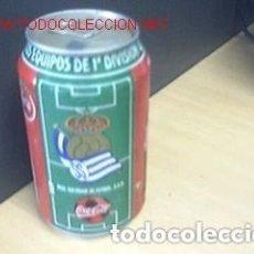 Coleccionismo deportivo: BOTE COCA COLA / EQUIPOS DE FUTBOL / REAL SOCIEDAD. Lote 90118080
