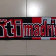 Coleccionismo deportivo: BUFANDA SCARF FUTBOL FOOTBALL ANTIMADRIDISTA ULTRAS ATLETICO MADRID FRENTE ATLETICO. Lote 90343680