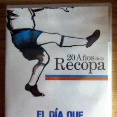 Coleccionismo deportivo: DVD NUEVO 20 AÑOS DE LA RECOPA EL DIA QUE EL REAL ZARAGOZA FUIMOS TODOS. Lote 186398470