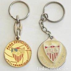 Coleccionismo deportivo: LOTE DE LLAVEROS DEL SEVILLA FC ESCUDO PEÑA SEVILLISTA - FÚTBOL CLUB DEPORTE LLAVERO SFC SEVILLISMO. Lote 91764355