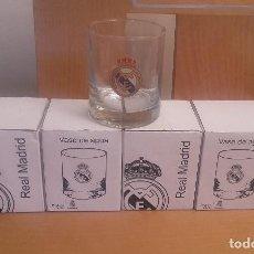 Coleccionismo deportivo: VASOS REAL MADRID NUEVOS. Lote 91949685