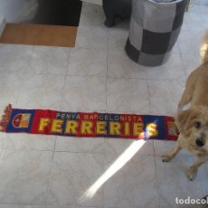 Collezionismo sportivo: BUFANDA DEL FC BARCELONA PEÑA BARCELONISTA FERRERIES - MENORCA. Lote 93101015