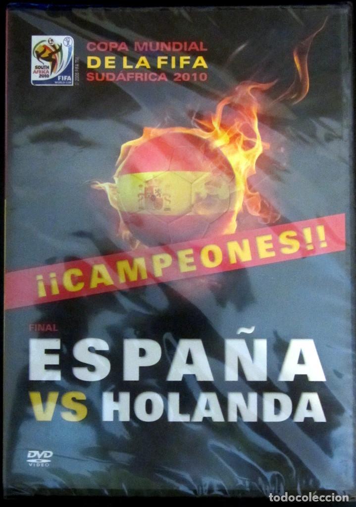 DVD FINAL MUNDIAL 2010 ESPAÑA VS HOLANDA CAMPEON SUDAFRICA FIFA WORLD CUP FOOTBALL GOL INIESTA (Coleccionismo Deportivo - Merchandising y Mascotas - Futbol)