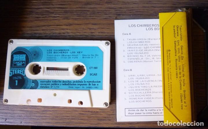 Coleccionismo deportivo: Casete Real Sociedad San Sebastian Campeones de Liga 1980 1981 Himnos Txuri Urdin Iruña ko Los Xey - Foto 3 - 94175725