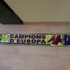 Coleccionismo deportivo: BUFANDA BARÇA 2006 CAMPIONS D'EUROPA PARÍS SAINT DENIS 140X17CM. Lote 94252738