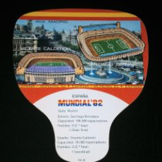 Coleccionismo deportivo: PAY PAY MUNDIAL FUTBOL ESPAÑA 82 - SEDE MADRID - ESTADIOS VICENTE CALDERON Y SANTIAGO BERNABEU. Lote 94402526