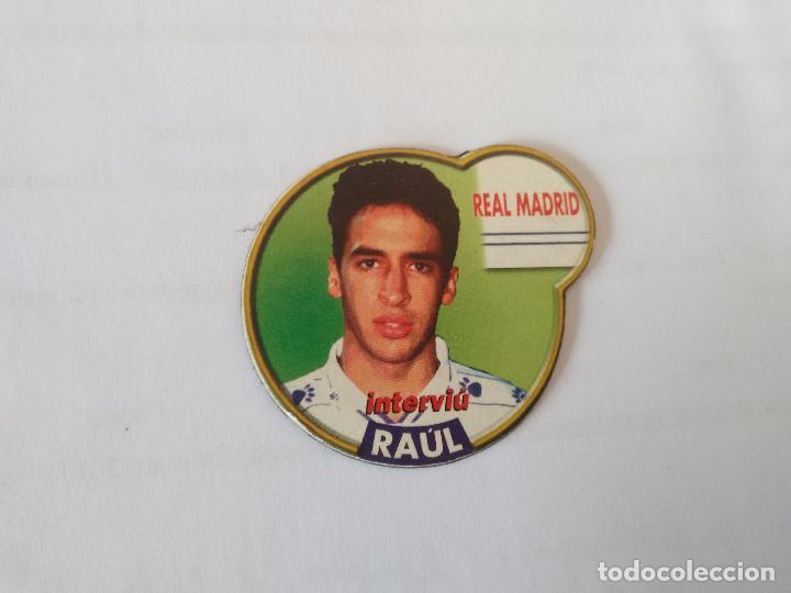 IMÁN DE NEVERA ESTRELLAS DE LA LIGA 1996-1997 INTERVIÚ - REAL MADRID 96-97: RAÚL (Coleccionismo Deportivo - Merchandising y Mascotas - Futbol)