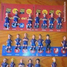 Coleccionismo deportivo: COLECCION PLANTILLA DEL FC BARCELONA 95-96- LOTE DE 22 FIGURAS LIGA 1995 CHUPA CHUPS MUNDO DEPORTIVO. Lote 94807995