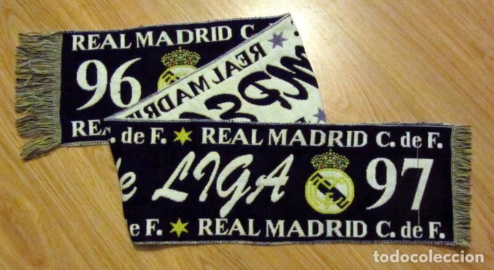 BUFANDA FUTBOL SCARF FOOTBALL REAL MADRID CAMPEON LIGA 96-97 CHAMPIONS LEAGUE (Coleccionismo Deportivo - Merchandising y Mascotas - Futbol)