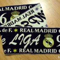 Coleccionismo deportivo: BUFANDA FUTBOL SCARF FOOTBALL REAL MADRID CAMPEON LIGA 96-97 CHAMPIONS LEAGUE. Lote 95229275