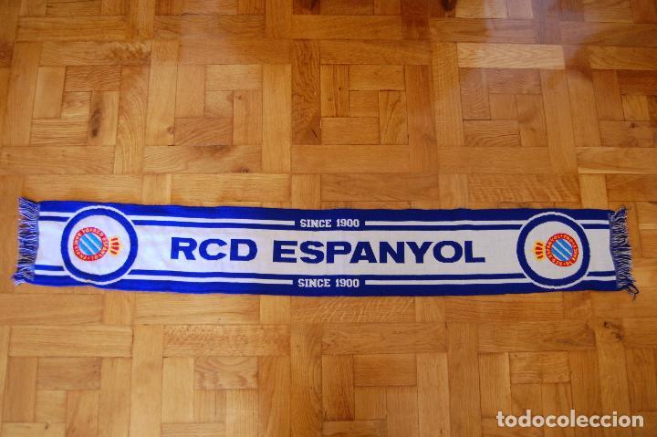 BUFANDA OFICIAL. REAL CLUB DEPORTIVO ESPAÑOL. ESPANYOL. (Coleccionismo Deportivo - Merchandising y Mascotas - Futbol)