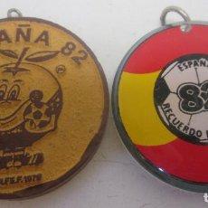 Coleccionismo deportivo: LLAVEROS O COLGANTES ESPAÑA 82 MUNDIAL DE FUTBOL NARANJITO, SEDE VIGO. Lote 95433096