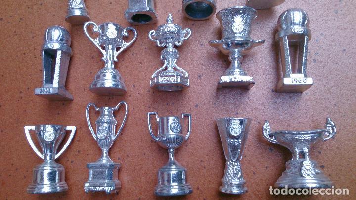 Coleccionismo deportivo: Colección 20 copas trofeos miniatura Real Madrid del AS - Foto 3 - 107562439