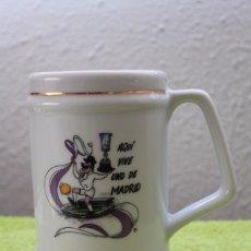 Coleccionismo deportivo: JARRA DE CERAMICA-AQUI VIVE UNO DE MADRID-AÑOS 80-90. Lote 97168503