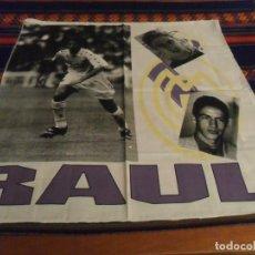 Coleccionismo deportivo: PAÑUELO DE TELA RAÚL GONZÁLEZ REAL MADRID AÑO 95. 56X53 CMS APROX. MBE. PRECIOSO Y RARO.. Lote 97207051