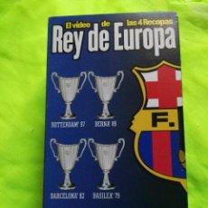 Coleccionismo deportivo: VIDEO VHS FÚTBOL CLUB BARCELONA REY DE EUROPA RECOPA. Lote 98004379