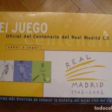 Coleccionismo deportivo: JUEGO CENTENARIO REAL MADRID. BORRÁS, 2002 ¡NUEVO, PRECINTADO Y ORIGINAL!. Lote 98029175