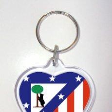 Coleccionismo deportivo: LLAVERO ACRILICO CORAZON ESCUDO ATLETICO DE MADRID. Lote 98250047