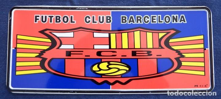 PLACA CHAPA MATRÍCULA DEL FÚTBOL CLUB BARCELONA (Coleccionismo Deportivo - Merchandising y Mascotas - Futbol)