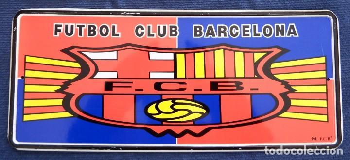 Coleccionismo deportivo: PLACA CHAPA MATRÍCULA DEL FÚTBOL CLUB BARCELONA - Foto 2 - 101085899