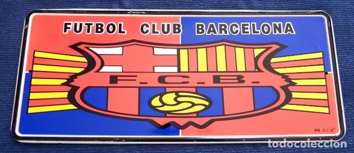 Coleccionismo deportivo: PLACA CHAPA MATRÍCULA DEL FÚTBOL CLUB BARCELONA - Foto 3 - 101085899