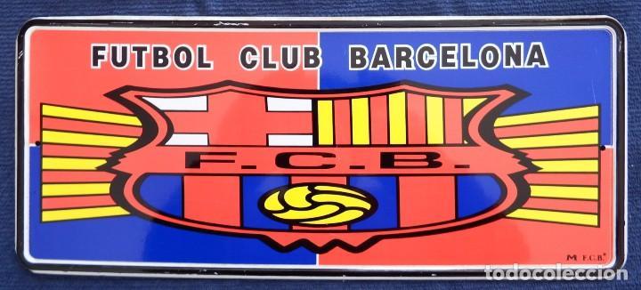 Coleccionismo deportivo: PLACA CHAPA MATRÍCULA DEL FÚTBOL CLUB BARCELONA - Foto 4 - 101085899