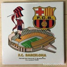 Coleccionismo deportivo: AZULEJO DE 15X15 DEL F.C. BARCELONA 4 MODELOS DIFERENTES. Lote 101191147