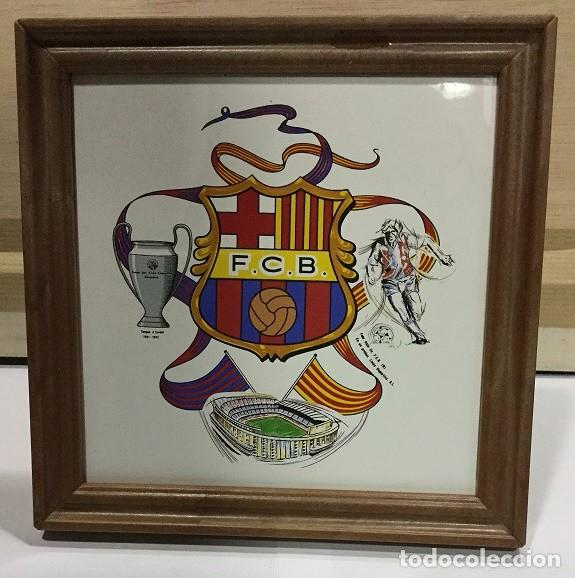 Coleccionismo deportivo: CUADRO DE PVC CON AZULEJO DE 15X15 DEL F.C. BARCELONA 4 MODELOS DIFERENTES - Foto 2 - 101191971