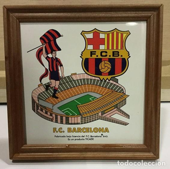 Coleccionismo deportivo: CUADRO DE PVC CON AZULEJO DE 15X15 DEL F.C. BARCELONA 4 MODELOS DIFERENTES - Foto 3 - 101191971
