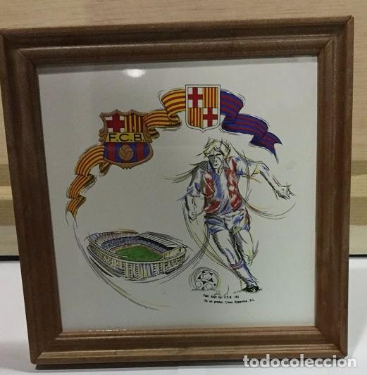 Coleccionismo deportivo: CUADRO DE PVC CON AZULEJO DE 15X15 DEL F.C. BARCELONA 4 MODELOS DIFERENTES - Foto 4 - 101191971