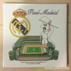 Coleccionismo deportivo: AZULEJO DE 15X15 DEL REAL MADRID 4 MODELOS DIFERENTES. Lote 101223035