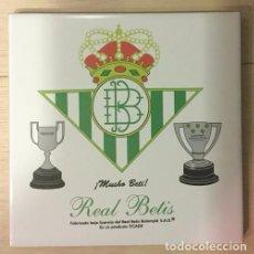 Coleccionismo deportivo: AZULEJO DE 15X15 DEL REAL BETIS, 3 MODELOS DIFERENTES. Lote 107039779