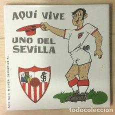 Coleccionismo deportivo: AZULEJO DE 15X15 DEL SEVILLA F.C. 3 MODELOS DIFERENTES. Lote 101226999