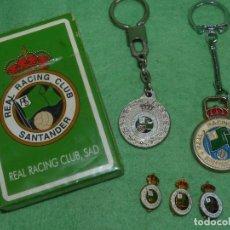 Coleccionismo deportivo: LOTE REAL RACING CLUB SANTANDER LLAVERO BARAJA FOURNIER PIN INSIGNIA FUTBOL CLASICO LIGA VINTAGE. Lote 102099939