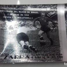 Coleccionismo deportivo: SELECCION ESPAÑOLA DE FUTBOL ESPAÑA INGLATERRA MUNDIAL 1950 CENICERO PLATO ZARRA ATHLETIC DE BILBAO. Lote 102633239