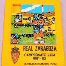 Coleccionismo deportivo: PUZZLE DEL REAL ZARAGOZA - CAMPEONATO DE LIGA 1981 - 82 , COMERCIAL PORSA FUTBOL RARO. Lote 107198559