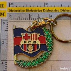 Coleccionismo deportivo: LLAVERO DEL FÚTBOL CLUB BARCELONA. ESCUDO LAURELES. BANDERA. Lote 107942807