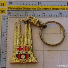Coleccionismo deportivo: LLAVERO DEL FÚTBOL CLUB BARCELONA. ESCUDO LA SAGRADA FAMILIA. Lote 107942887