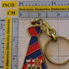 Coleccionismo deportivo: LLAVERO DEL FÚTBOL CLUB BARCELONA. ESCUDO CORBATA. Lote 107942911