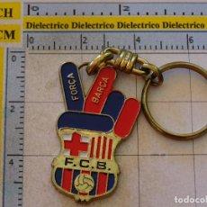 Coleccionismo deportivo: LLAVERO DEL FÚTBOL CLUB BARCELONA. ESCUDO FORÇA BARÇA. Lote 107942951