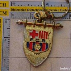 Coleccionismo deportivo: LLAVERO DEL FÚTBOL CLUB BARCELONA. ESCUDO BANDERÍN ESTANDARTE. Lote 107943039