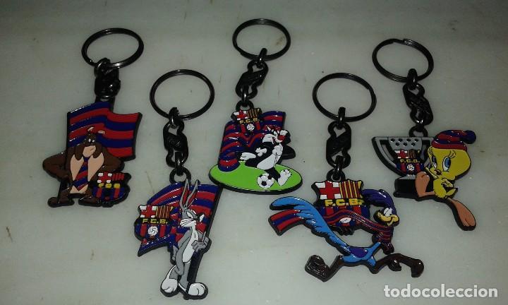 LLAVEROS BARÇA LONNE TUNNES .AÑO 95 (Coleccionismo Deportivo - Merchandising y Mascotas - Futbol)