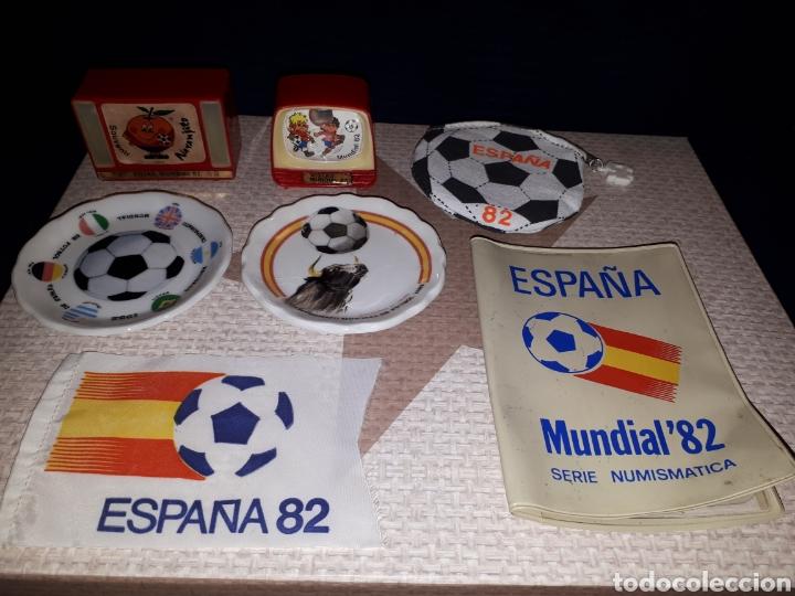 LOTE MERCHANDISING MUNDIAL ESPAÑA 82 (Coleccionismo Deportivo - Merchandising y Mascotas - Futbol)