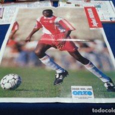 Coleccionismo deportivo: POSTER JAPHET NDORAM DEL MONACO 4 PAGINAS. Lote 109051511